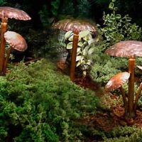 Introducing Mushroom Cap Copper LED Landscape Lights