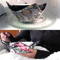 Introducing the Microwave Bowl Cozy by Sheryl's Crafty Creations