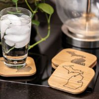 Introducing Engraved Wood Michigan Coasters
