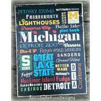 Michigan Theme Word Art