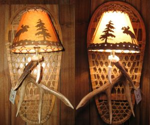 Whitetail Bear Paw Snowshoe Sconce