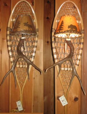 Whitetail Snowshoe Sconce