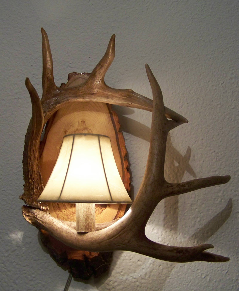 Wall Sconce Michigan Antler Art
