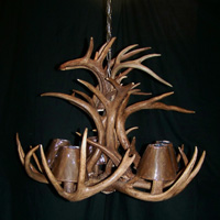 Tiered Whitetail Antlers Chandelier with 12 Antlers and 5 Lights