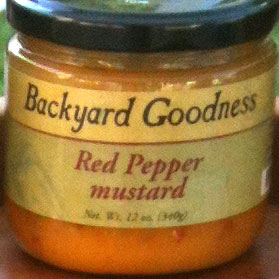 Sweet & Tangy Red Pepper Mustard by Backyard Goodness