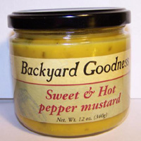Sweet & Hot Pepper Mustard by Backyard Goodness