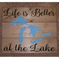 Life Is Better At The Lake – Inspirational Sign