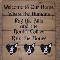 Border Collies Run The House – Inspirational Sign