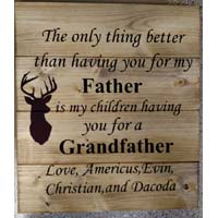 Father / Grandfather Personalized Wood Sign