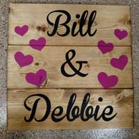 Personalized Hearts – Inspirational Sign