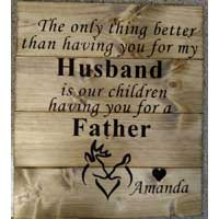 Husband / Father Personalized Wood Sign