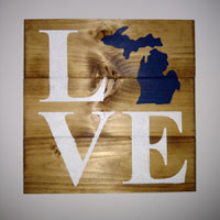 Michigan Love – Inspirational Sign