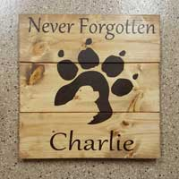 Cavalier Dog Memorial Personalized Wood Sign