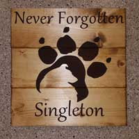 Border Collie Dog Memorial Personalized Wood Sign