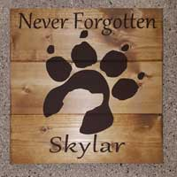 Labrador Dog Memorial Personalized Wood Sign
