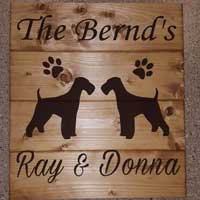Personalized Airedale – Inspirational Sign