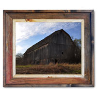 Barn Sky Canvas Print Framed in Barnwood