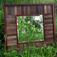Barnwood Beveled Edge Mirror
