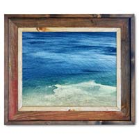 Water Canvas Print Framed in Barnwood