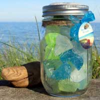 Beach Glass Soap Mason Jar