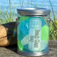 Beach Glass Soap Pail