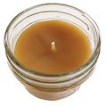 Bee Organic Beeswax Candles 4 oz Glass Jar