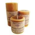 Bee Organic Beeswax Candles Large Pillar Set