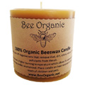 Bee Organic Beeswax Candles Small Pillar