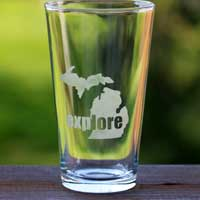 Explore Michigan Pint Glass