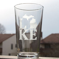 Lake Michigan Pint Glass