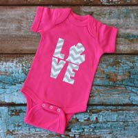 Love Michigan Chevron Onesie