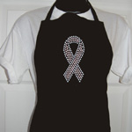 Awareness Ribbon Rhinestone Apron