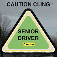 Senior Driver Caution Clings