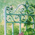 Giclee Art Hummingbird Garden Gate