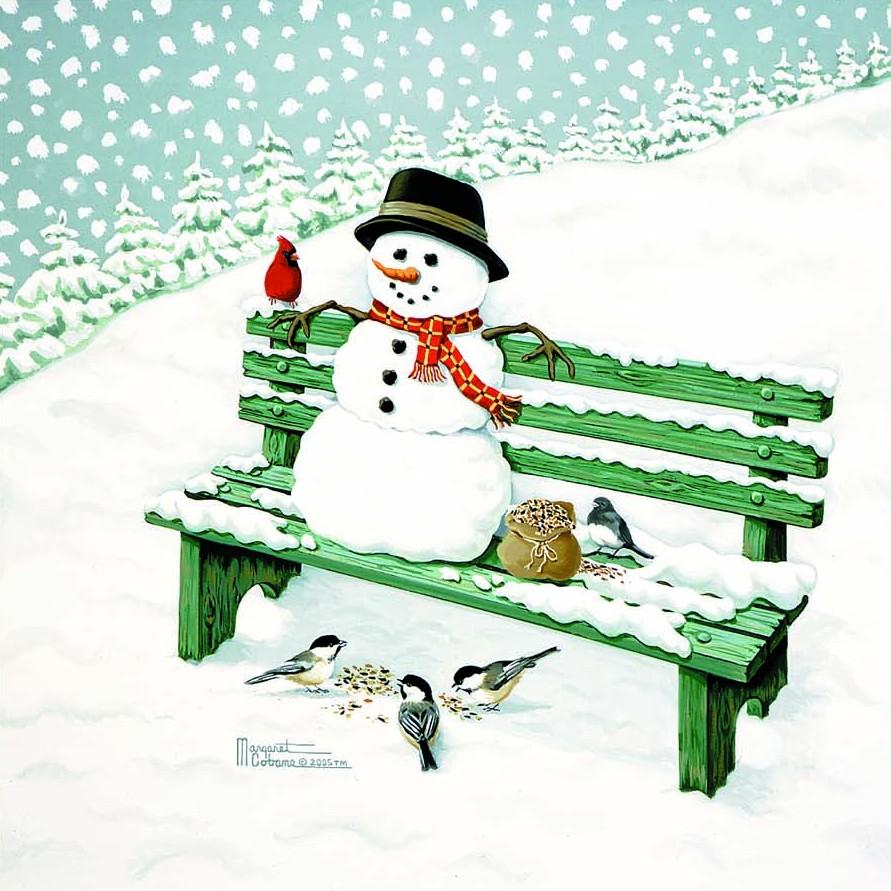 Holiday gicl e art cobane studio - Bonhomme de neige decoration exterieure ...