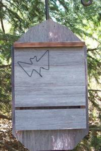 Rustic Bat house Handcrafted of Barn wood