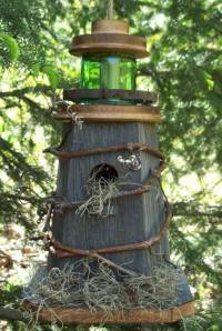 Rustic Lighthouse Birdhouses Handcrafted of Barn wood