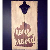 Home Brewed Michigan Sign