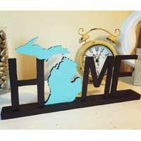 Stand Alone Michigan Home Sign