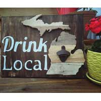 Drink Local Michigan Sign