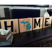 Scrabble Michigan Home Sign