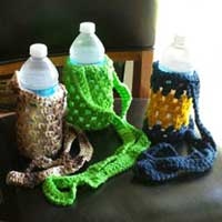 Hand Crocheted Bottle Holders