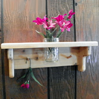 Rustic Jar Holder Shelves