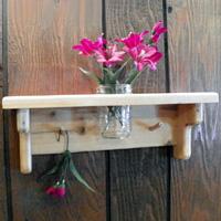 Rustic Jar Holder Shelves