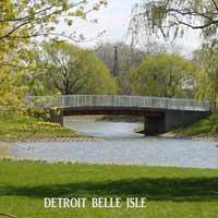 Bridge on Belle Isle Detroit Postcard