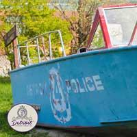 Detroit Police Boat Postcard