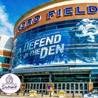 Detroit Lions Ford Field Postcard