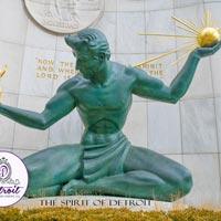 The Spirit of Detroit Postcard