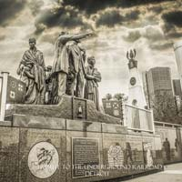 The Gateway to Freedom/Tribute to the Underground Railroad/Detroit Hart Plaza Postcard