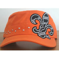 Cadet Style Hats with Large Fleur de Lis Bling